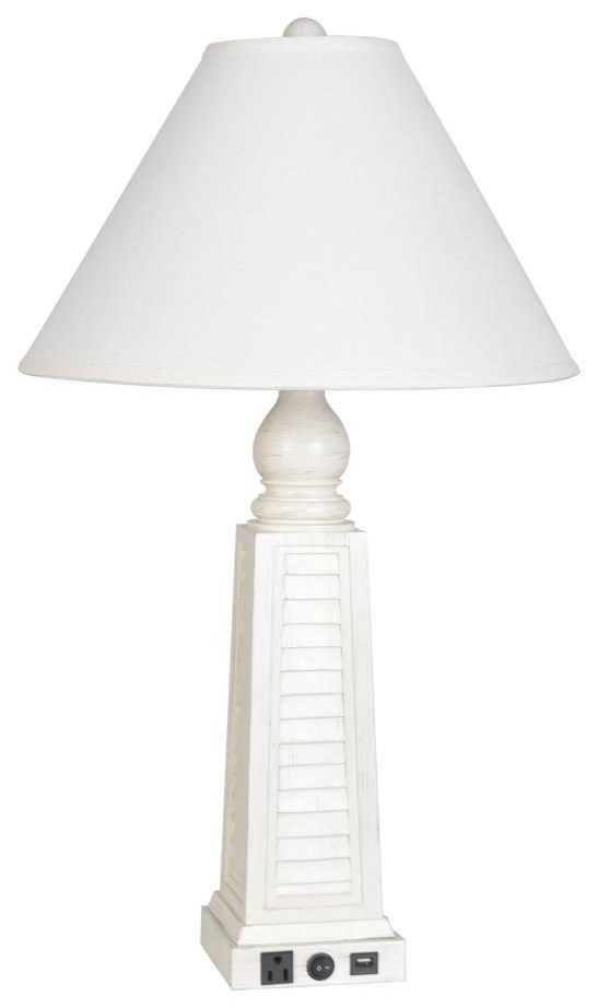 2018 Collection LPS-247 White Shutter Lamp by Lamps Per Se at Furniture Fair - North Carolina