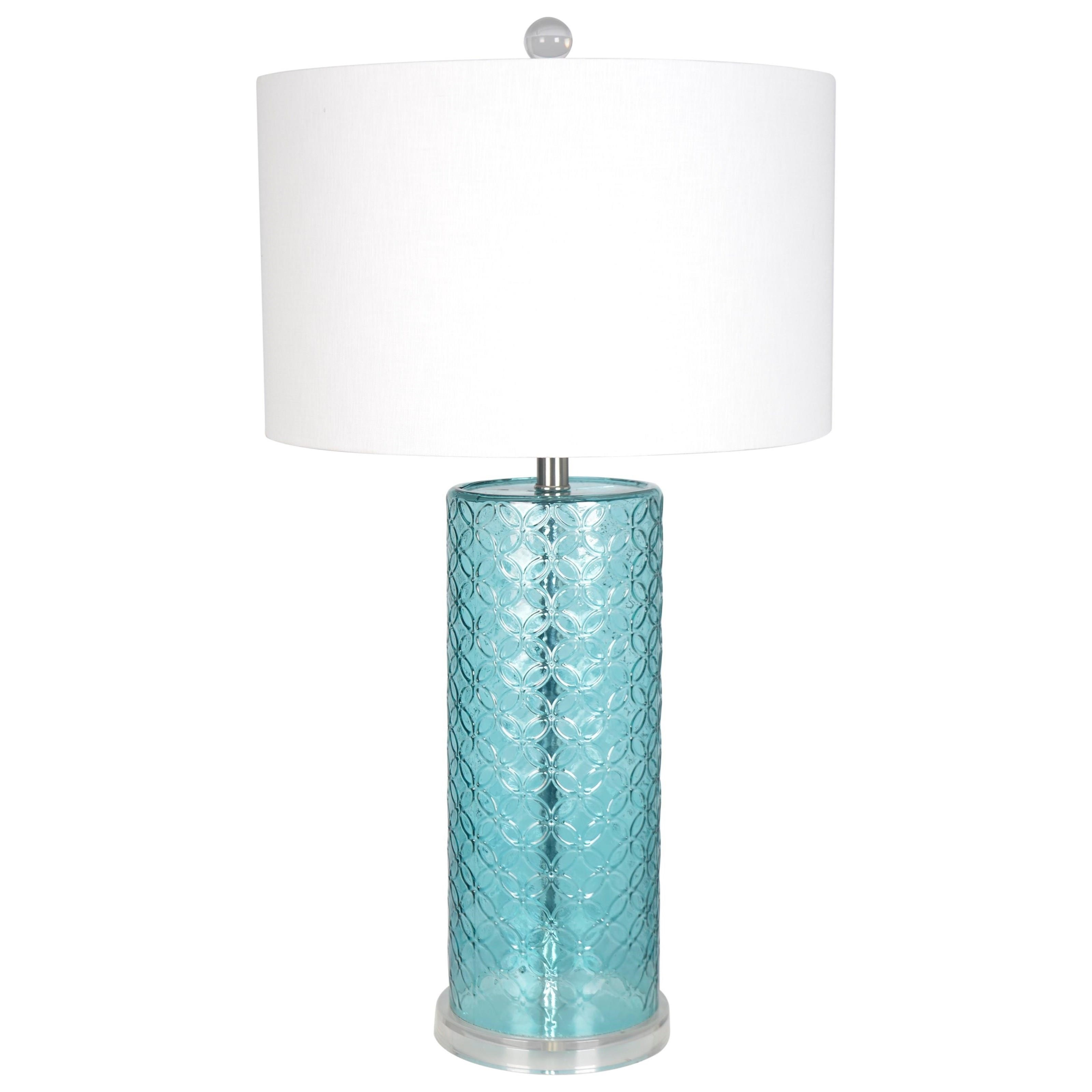 ceramic blue lamp navy and astonishing round lamps table teal white awesome