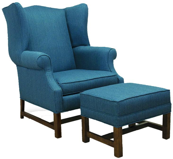 High Back Chair and Ottoman