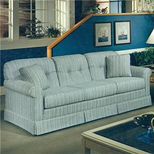 2000 Casual Stationary Sofa with Tufted Seat Back by Lancer