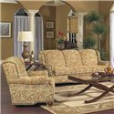 Lancer 5100 Traditional Chair with Tight Back and Turned Legs - Shown in Living Room Setting with Matching Sofa