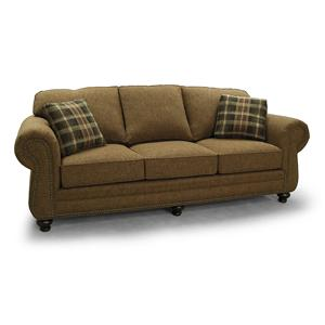 700 Transitional Rolled Arm Sofa with Nailhead Accents by Lancer