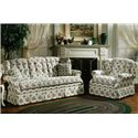 Lancer 840 Country Style Upholstered Armchair - Shown with Sofa.