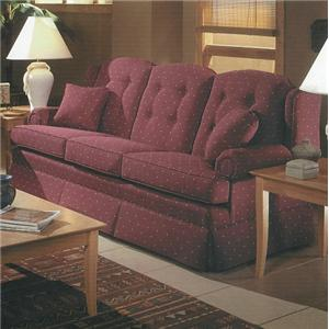 9800 Traditional Kick Skirt Sofa with Button Tufts by Lancer