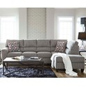Lane 2015 Sectional with Bump Chaise - Item Number: 2015-03L+84-Dante Concrete