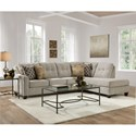 Lane 2019 2-Piece Sectional - Item Number: 2019-03L+084-Dante Tweed