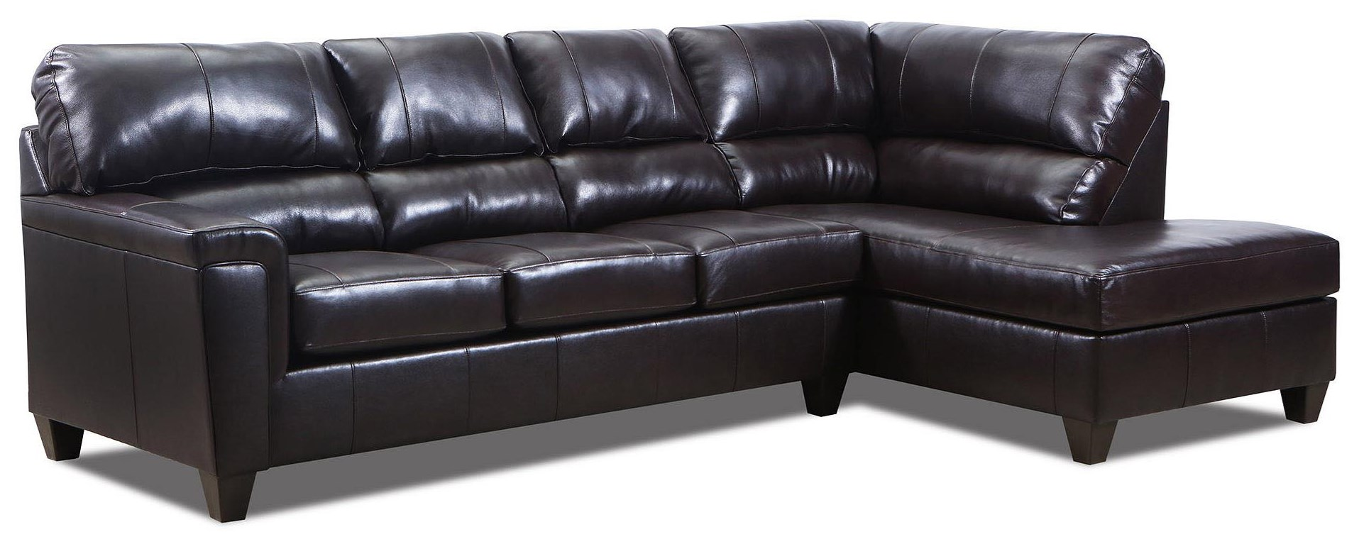 2PC Leather Chaise Sectional