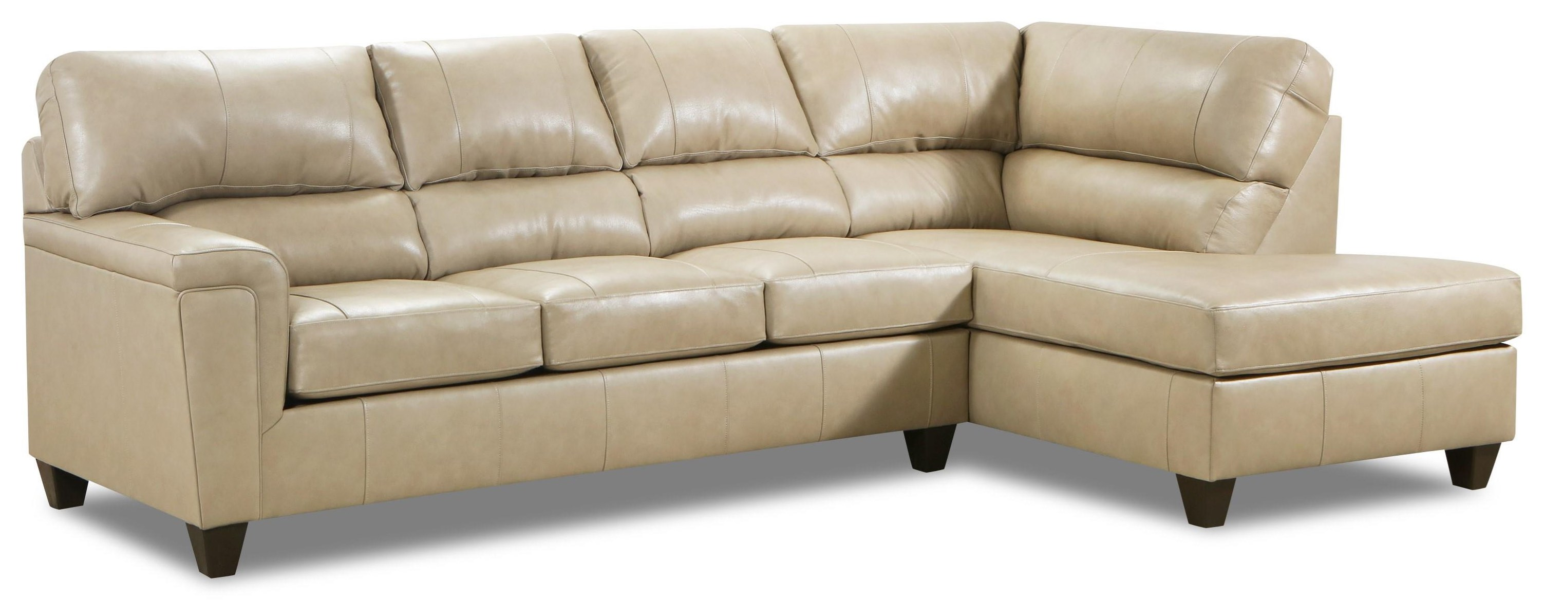 2038 2 Pc Leather Sectional by Lane at Furniture Fair - North Carolina