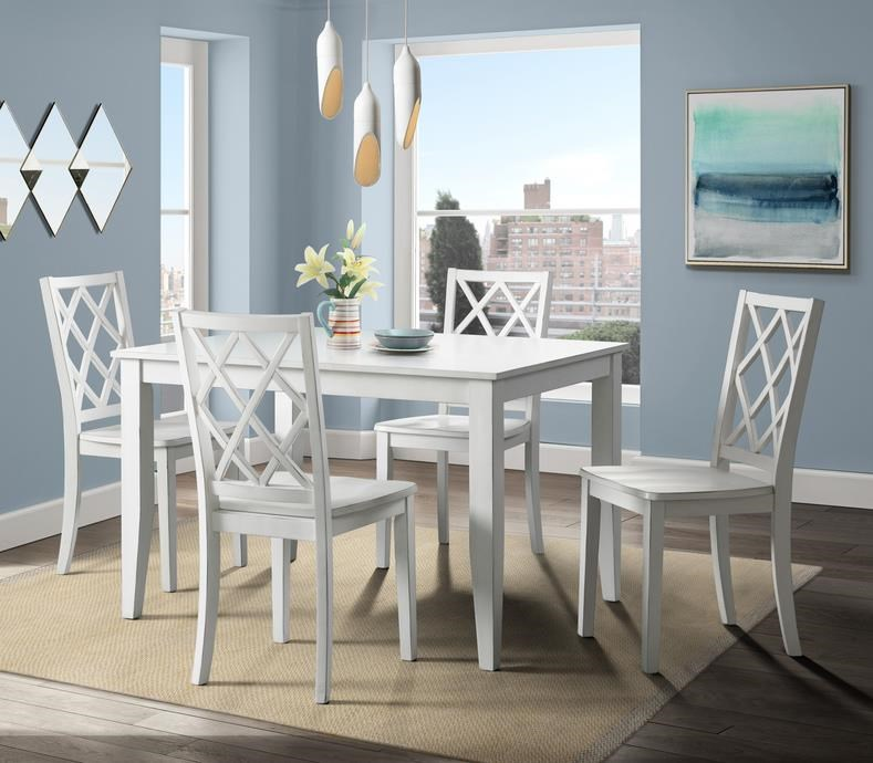 5086 White Table x 4 Chairs by Lane at Furniture Fair - North Carolina