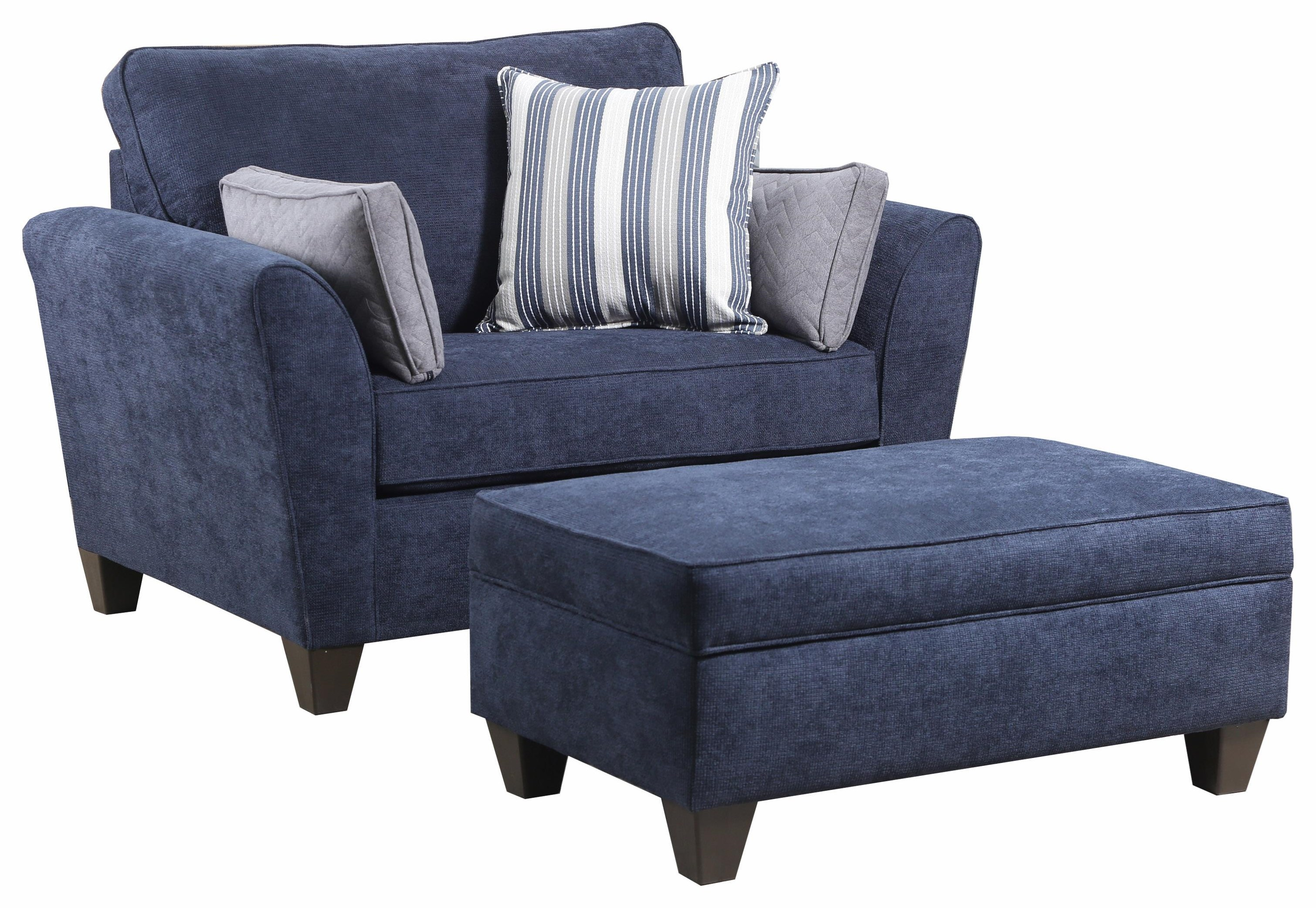 7081 Chair and Ottoman by Lane at Value City Furniture