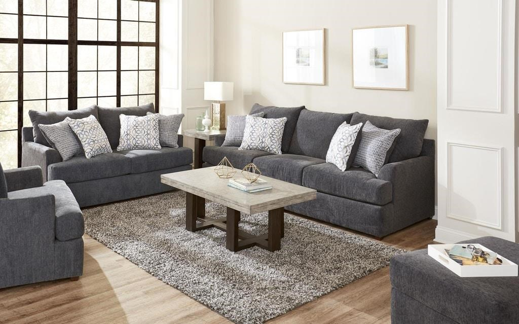 8046 Sofa and Love Seat in Surge Charcoal by Lane at Del Sol Furniture