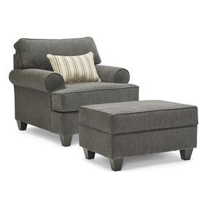 2PC Chair & Ottoman Set