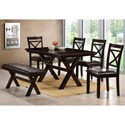 Lane Austin Table and Chair Set with Bench - Item Number: LF-5009-59+4x02+01