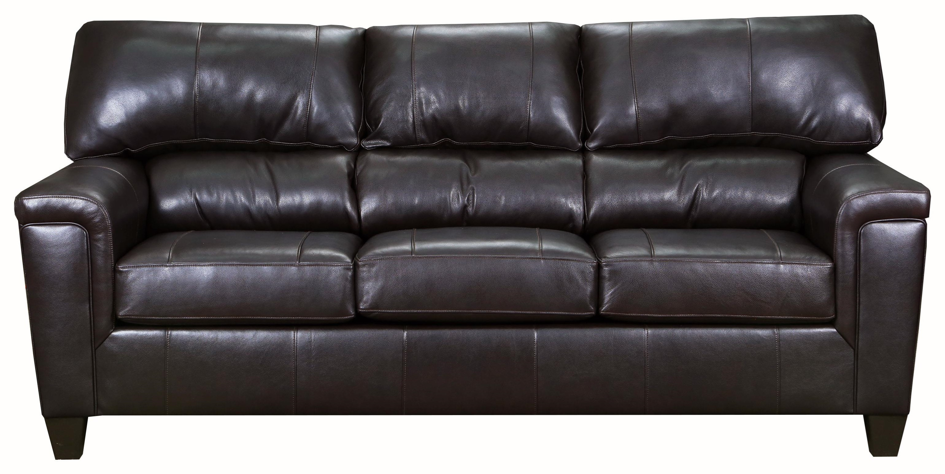 Brown Bark Leather Sofa