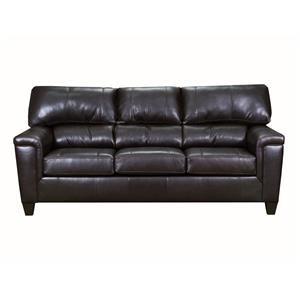Brown Bark Leather Sofa