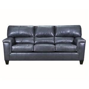 Gray Fog Leather Sofa