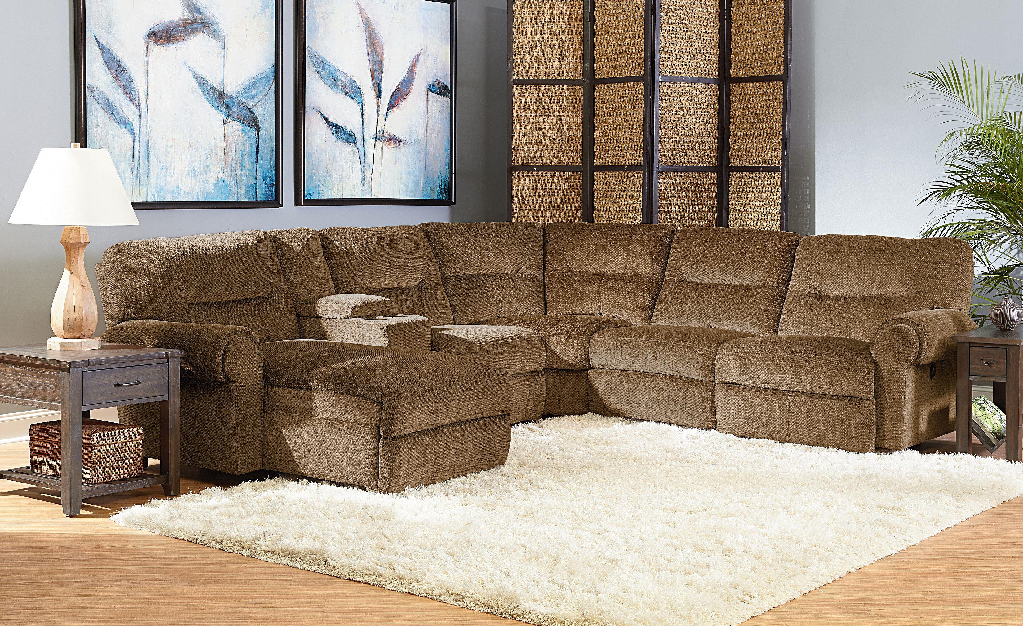 Lane Brandon Reclining Sectional With Power Chaise Hudson 39 S Furniture Reclining Sectional Sofa