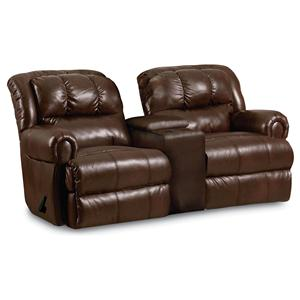 Lane Evans 323 Reclining Rocking Console Loveseat
