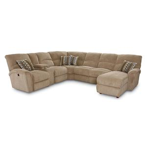 Lane Grand Torino 4 Pc Power Sectional w/ LAF Console Loveseat
