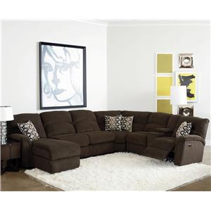Lane Grand Torino 4 Pc Sectional Sofa w/ Sleeper and Console