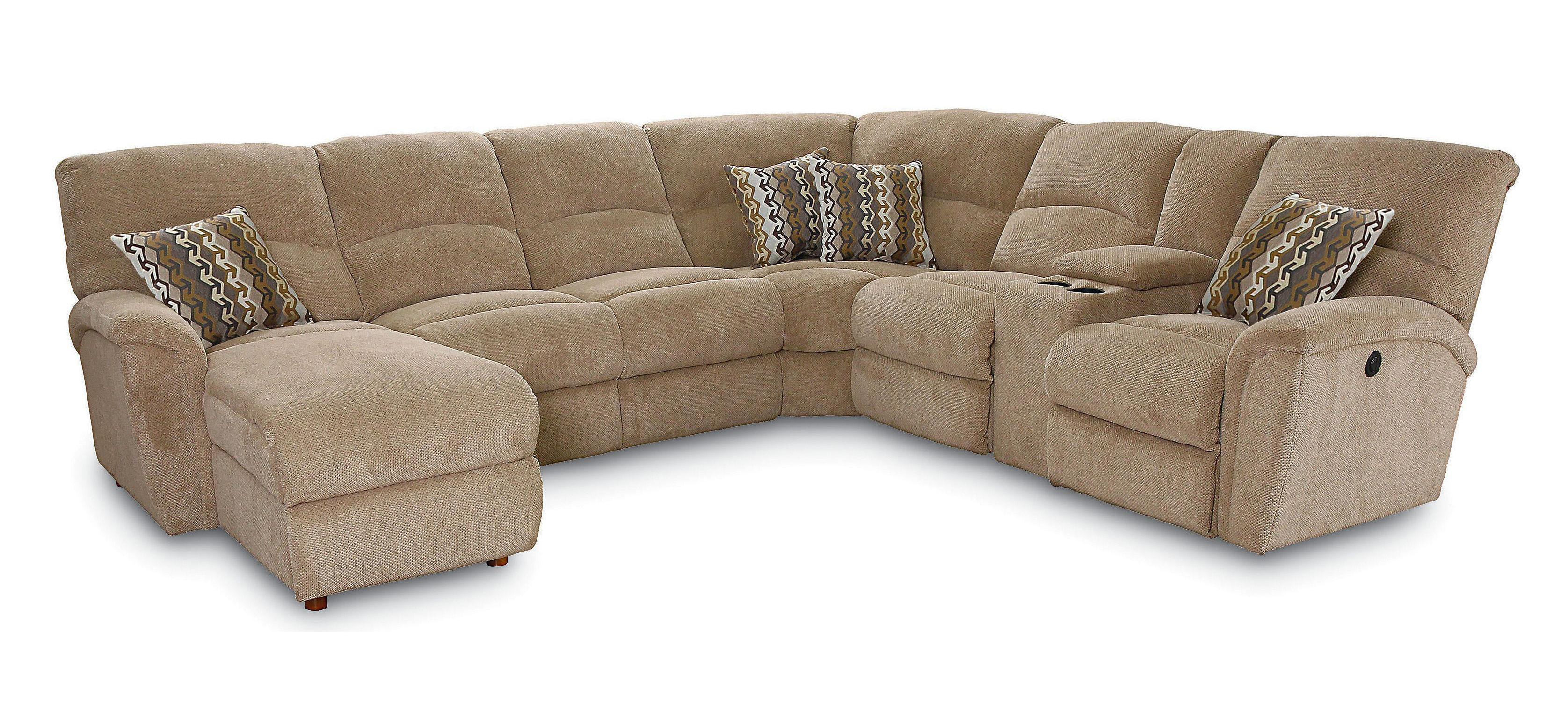 Lane Grand Torino Casual Four Piece Sectional Sofa w LAF Console