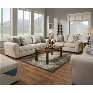 1657 Sofa and Loveseat