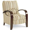 Lane Hi Leg Recliners Contemporary Julia Hileg Recliner with Bentwood Arms - 2595