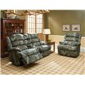 Lane Knox Knox Big and Tall Rocker Recliner - Shown with Dual-Recline Console Loveseat
