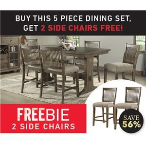Dallas Counter Height Dining Set with Freebi