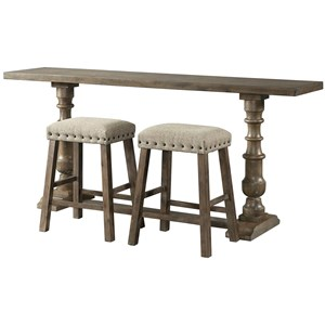 Sofa Bar Table and Stool Set