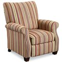Lane Low Leg Recliners Casual Jill Loleg Recliner with Rolled Arms and Exposed Wood Feet - 2340
