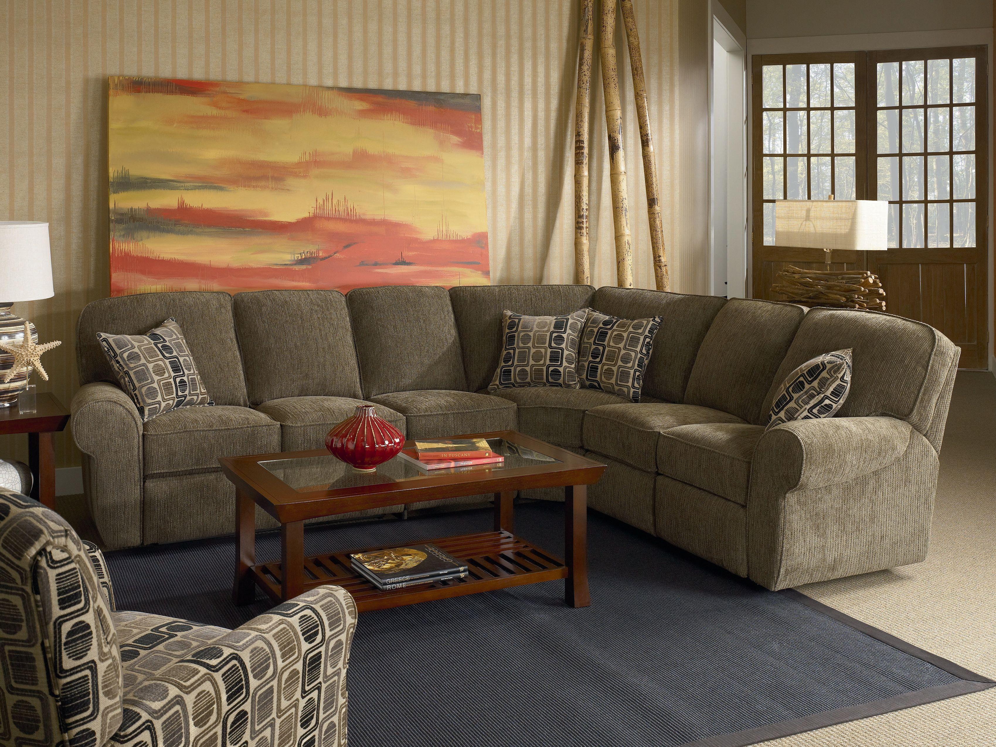 Lane Megan 4 Piece Reclining Sectional Sofa