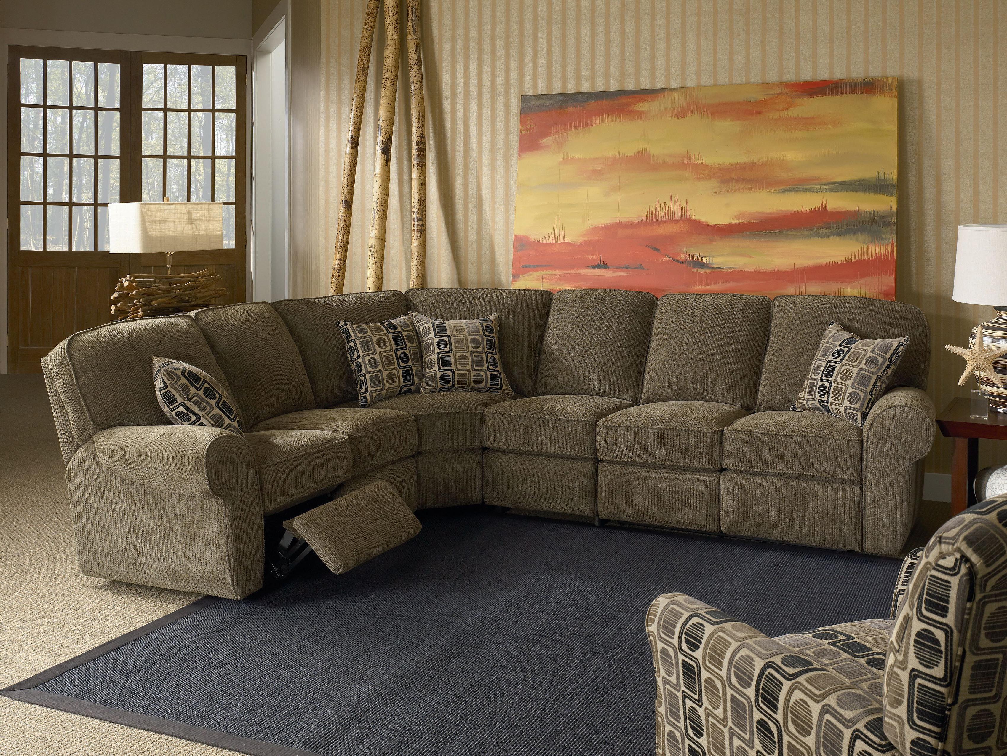 Lane Megan Powerized 4 Piece Sectional Sofa