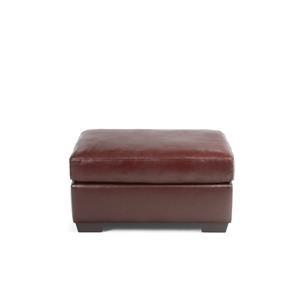 Noah Leather Ottoman