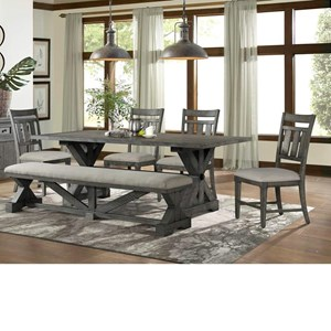 6-Piece Table, Chair, and Bench Set
