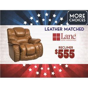 Lane Big Man Leather Matched Recliner