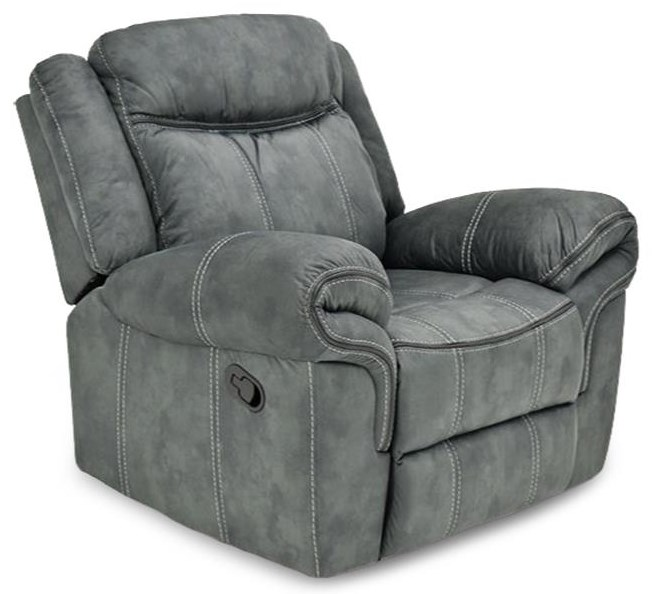 Shadow Glider / Recliner w/ Rolled Pillow Arms at Rotmans