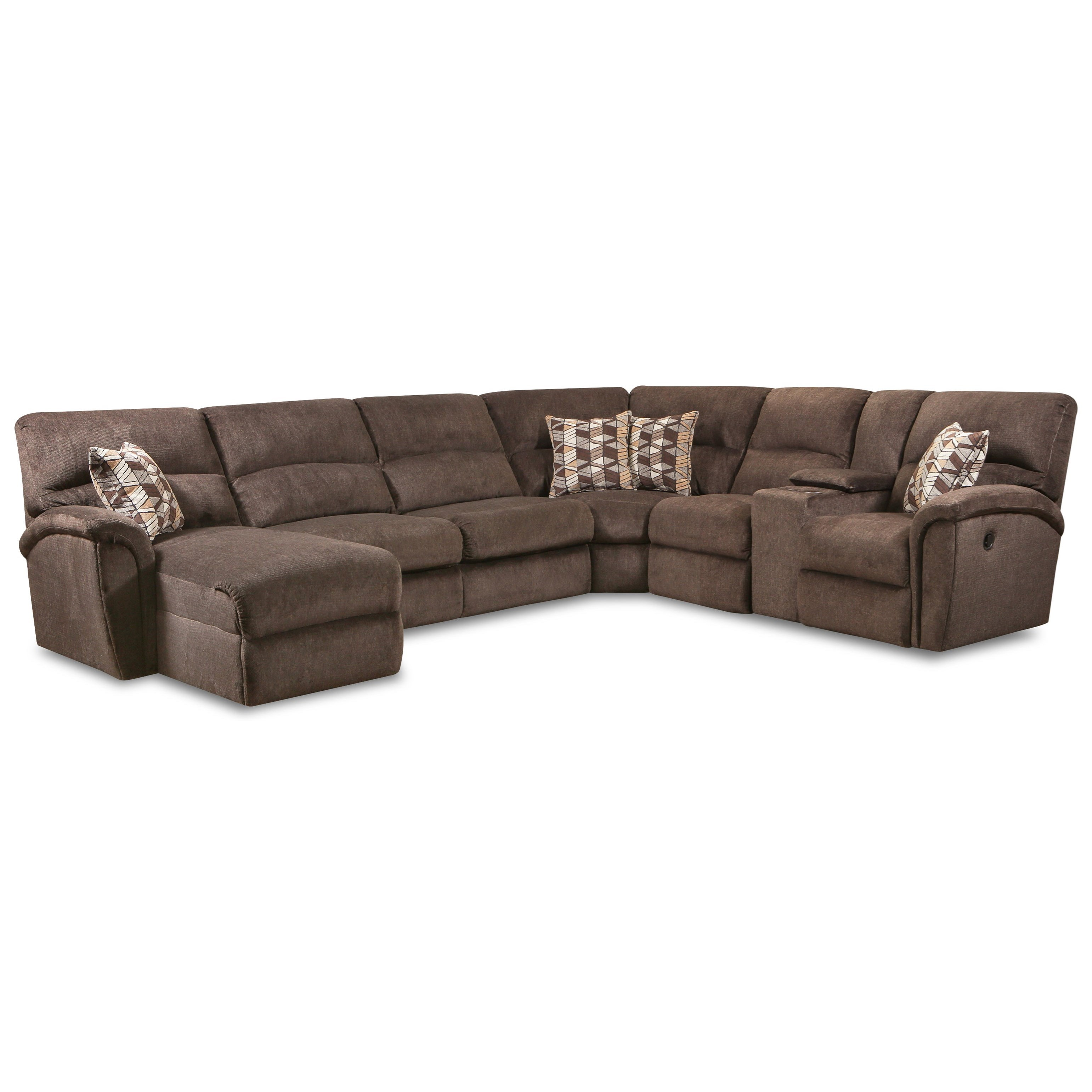 Lane Stirling Casual 4-Piece Reclining Sectional with Left ...