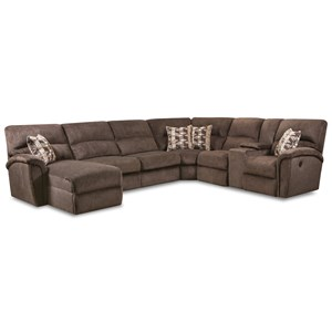 4-Pc Power Reclining Sectional w/LAF Chaise
