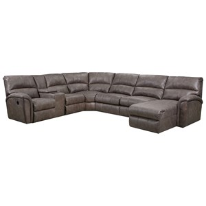 4-Piece Reclining Sectional w/RAF Chaise