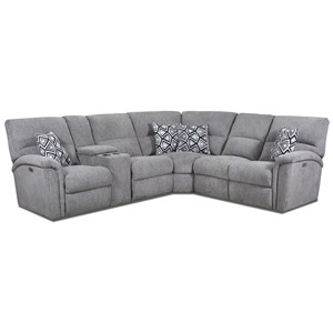 3-Pc Recl. Sectional w/LAF Console Loveseat