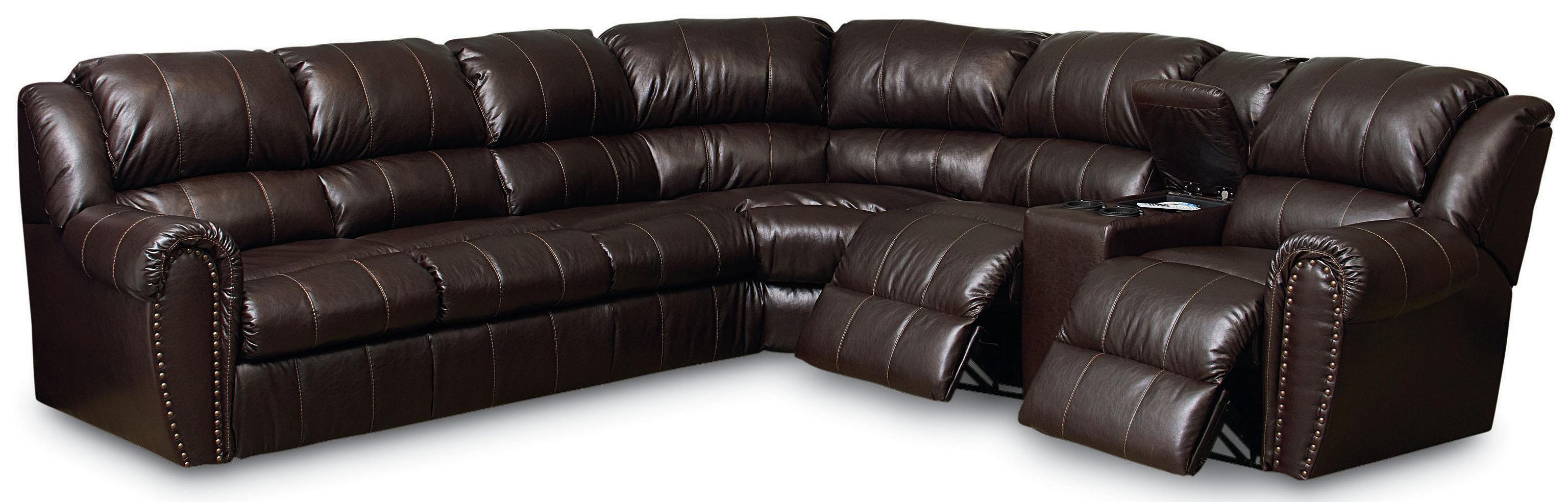Lane summerlin traditional reclining sectional sofa with for Furniture 66 long lane liverpool