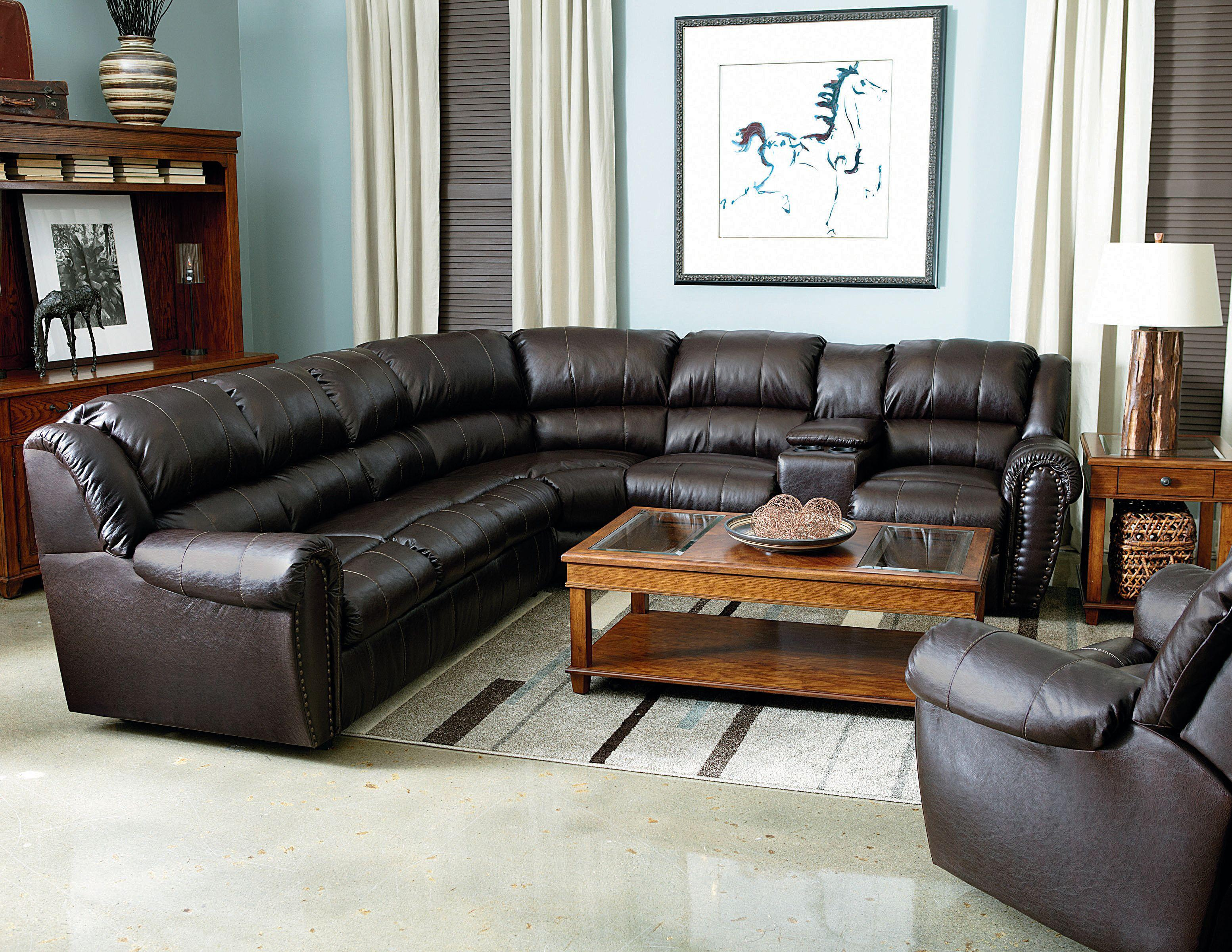 Lane Summerlin Traditional Reclining Sectional Sofa With