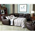 Lane Summerlin Traditional Reclining Sectional Sofa with Sleeper and Nail Head Trim Accents - 214-07+04+66