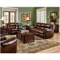 Lane Summerlin Double Reclining Sofa - Shown here with matching Loveseat