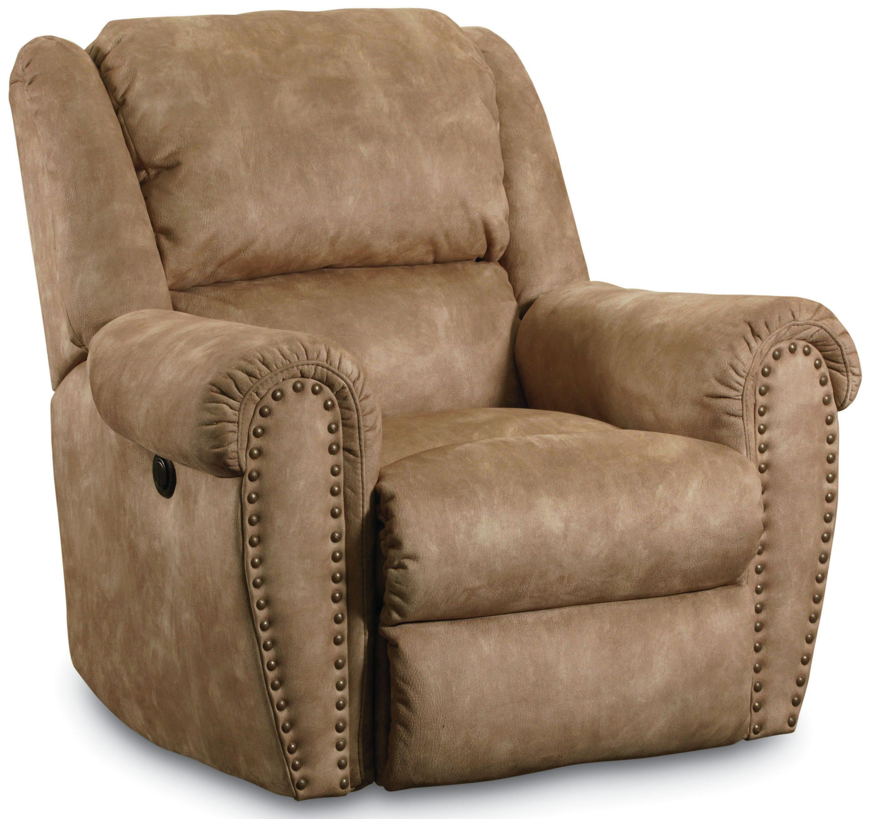 Lane Summerlin Traditional Rocker Recliner with Nail Head Trim