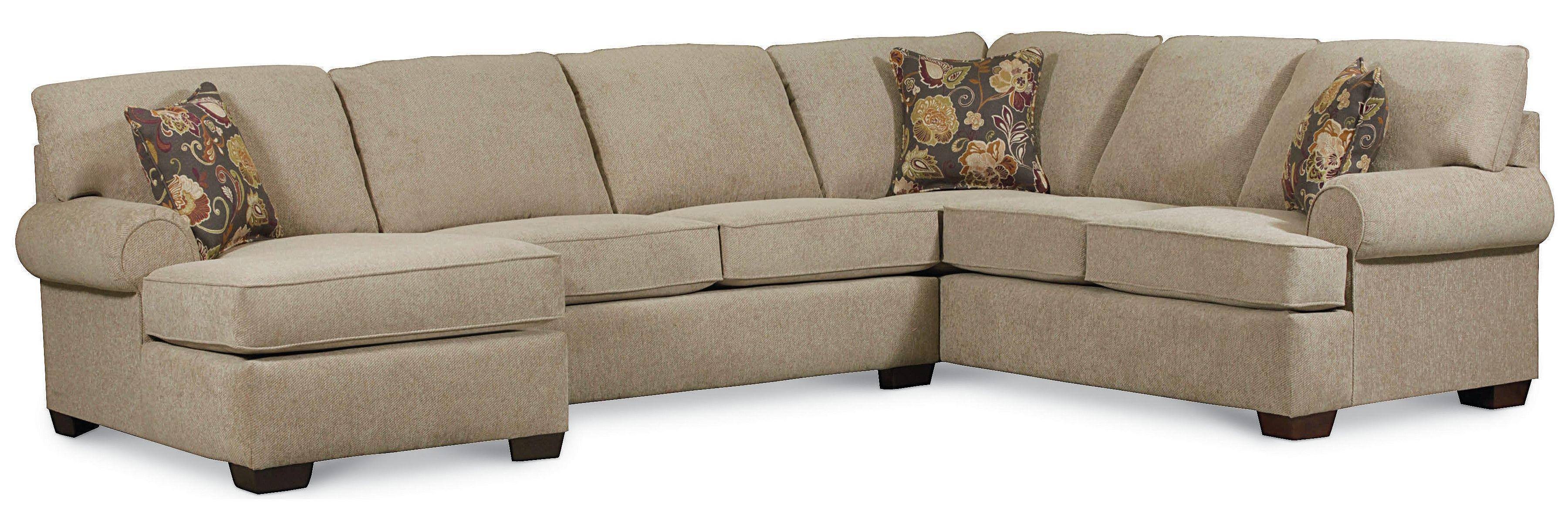 Lane Vivian Transitional 3 Piece Sectional Sofa AHFA Sofa