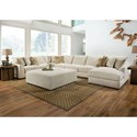Lane Vivian Sectional Sofa - Item Number: 9915-02L+07+01A+02A+08R-9588A