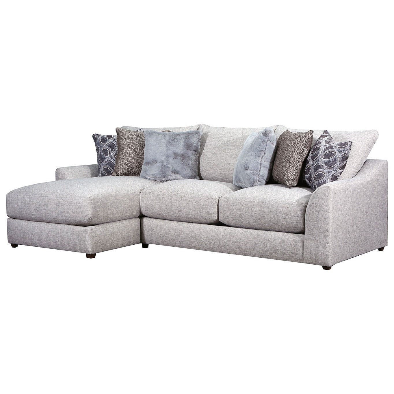 Lane Vivian Casual 2 Piece Sectional Sofa With Chaise Powell S Furniture And Mattress Sectional Sofas