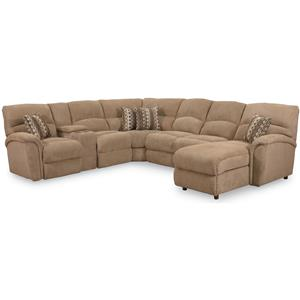 Lane Express Grand Torino 4 Piece Sectional with Stationary Chaise